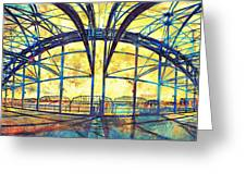 Market Street Bridge Arch Greeting Card by Steven Llorca