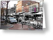 Market Street In Old City Greeting Card by Eric Nagy