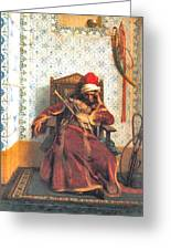 Markos Botsaris Greeting Card by Jean Leon Gerome