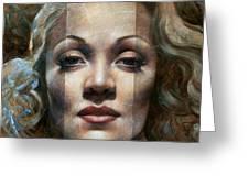 Marlene Dietrich Greeting Card by Arthur Braginsky