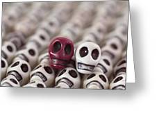 Maroon And White Greeting Card by Mike Herdering