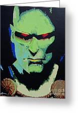 Martian Manhunter - A Close Encounter Greeting Card by Kelly Hartman