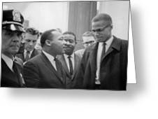 Martin Luther King Jnr 1929-1968 And Malcolm X Malcolm Little - 1925-1965 Greeting Card by Marion S Trikoskor