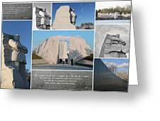 Martin Luther King Jr Memorial Collage 1 Greeting Card by Allen Beatty