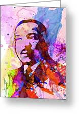 Martin Luther King Jr Watercolor Greeting Card by Naxart Studio