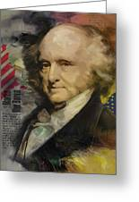 Martin Van Buren Greeting Card by Corporate Art Task Force