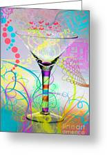 Martini Greeting Card by Mauro Celotti