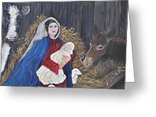 Mary And Baby Jesus Greeting Card by Linda Clark