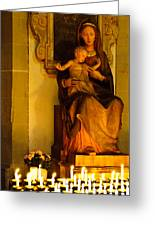 Mary And Baby Jesus Greeting Card by Syed Aqueel