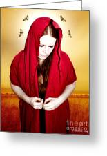 Mary Of Silence Greeting Card by Heather King