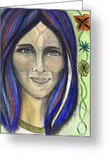 Mary Greeting Card by Roger Hanson