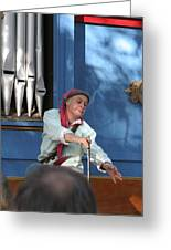 Maryland Renaissance Festival - A Fool Named O - 12129 Greeting Card by DC Photographer