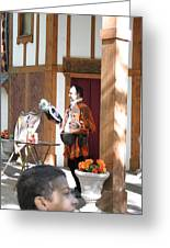 Maryland Renaissance Festival - Johnny Fox Sword Swallower - 121210 Greeting Card by DC Photographer