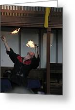 Maryland Renaissance Festival - Johnny Fox Sword Swallower - 1212105 Greeting Card by DC Photographer