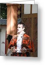 Maryland Renaissance Festival - Johnny Fox Sword Swallower - 121228 Greeting Card by DC Photographer