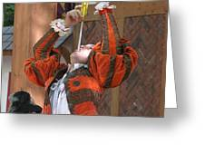 Maryland Renaissance Festival - Johnny Fox Sword Swallower - 121244 Greeting Card by DC Photographer