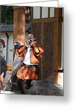 Maryland Renaissance Festival - Johnny Fox Sword Swallower - 121254 Greeting Card by DC Photographer