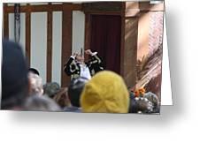 Maryland Renaissance Festival - Johnny Fox Sword Swallower - 121257 Greeting Card by DC Photographer