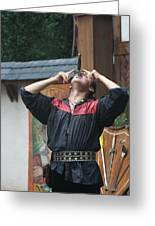 Maryland Renaissance Festival - Johnny Fox Sword Swallower - 121263 Greeting Card by DC Photographer