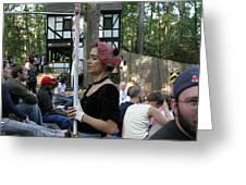 Maryland Renaissance Festival - Johnny Fox Sword Swallower - 121276 Greeting Card by DC Photographer
