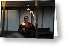 Maryland Renaissance Festival - Johnny Fox Sword Swallower - 121285 Greeting Card by DC Photographer