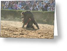 Maryland Renaissance Festival - Jousting And Sword Fighting - 1212105 Greeting Card by DC Photographer