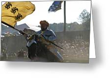 Maryland Renaissance Festival - Jousting And Sword Fighting - 1212130 Greeting Card by DC Photographer
