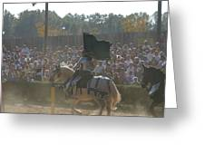 Maryland Renaissance Festival - Jousting And Sword Fighting - 1212132 Greeting Card by DC Photographer