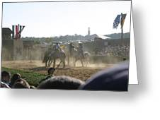 Maryland Renaissance Festival - Jousting And Sword Fighting - 1212139 Greeting Card by DC Photographer