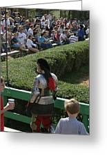 Maryland Renaissance Festival - Jousting And Sword Fighting - 1212198 Greeting Card by DC Photographer
