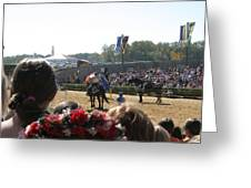 Maryland Renaissance Festival - Jousting And Sword Fighting - 1212209 Greeting Card by DC Photographer