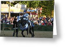 Maryland Renaissance Festival - Jousting And Sword Fighting - 121232 Greeting Card by DC Photographer