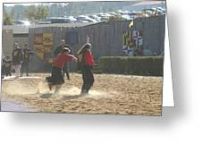 Maryland Renaissance Festival - Jousting And Sword Fighting - 121278 Greeting Card by DC Photographer