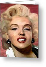 Marylin Monroe Greeting Card by James Shepherd