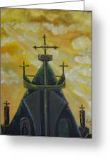 Mary's Cathedral In The Sky Greeting Card by Tricia Concienne