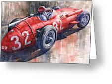 Maserati 250f J M Fangio Monaco Gp 1957 Greeting Card by Yuriy  Shevchuk