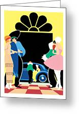 Masked Ball Greeting Card by Brian James