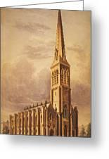 Masonry Church Circa 1850 Greeting Card by Aged Pixel