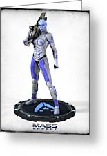 Mass Effect - Asari Alliance Soldier Greeting Card by Frederico Borges