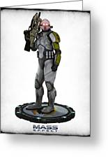 Mass Effect - Cerberus Soldier Greeting Card by Frederico Borges