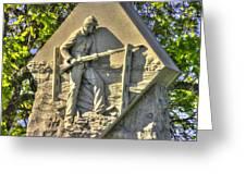 Massachusetts at Gettysburg 1st Mass. Volunteer Infantry Skirmishers Close 1 Steinwehr Ave Autumn Greeting Card by Michael Mazaika