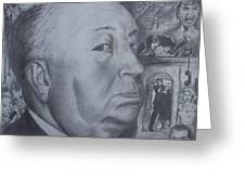 Master Of Suspense Greeting Card by Jeremy Reed