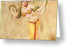 Mata Hari Vintage Wine Ad Greeting Card by Cinema Photography