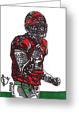 Matt Ryan Greeting Card by Jeremiah Colley