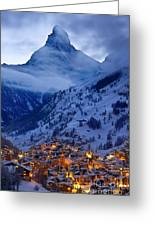 Matterhorn At Twilight Greeting Card by Brian Jannsen
