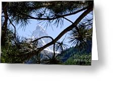 Matterhorn Greeting Card by Mats Silvan