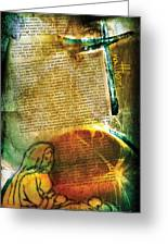 Matthew 1 Greeting Card by Switchvues Design
