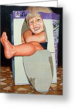 Matthew In A Box Greeting Card by AnnaJo Vahle