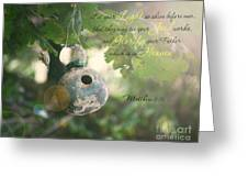 Matthew Verse Greeting Card by Lena Auxier