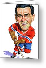 Maurice Rocket Richard Greeting Card by Art